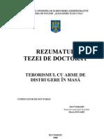 Terorismul Cu Arme de Dist Rug Ere in Masa - Rezumat