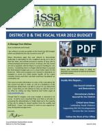 MMV FY12 Budget Report Final