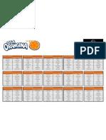 Grelha Liga Orangina 2011-2012