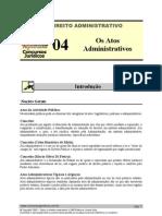ADM 04 - Os Atos Administrativos