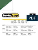 Grelha Bwin Cup - Fase 1