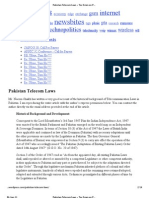 Brief History of Telecom Laws in Pakistan