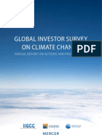 Global Investor Survey on Climate Change Report 2011