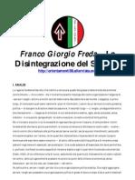 Franco Giorgio Freda – La Disintegrazione del Sistema