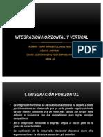 INTEGRACIÓN HORIZONTAL Y VERTICAL – FLEXIBILIDAD EN LAS