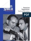 American Inquisition - The Era of Mccarthy Ism