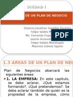 1.3 Areas de Un Plan de Negocios