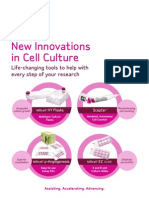 New Innovations in Cell Culture