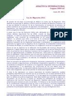 Ley de Migracion Mexico C2050 Jun 2011
