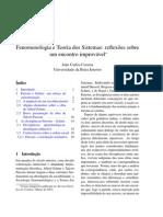 Correia Joao Fenomenologia e Teoria Dos Sistemas