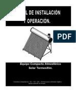 Manual Instalacinn Operacion Terma Solar