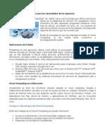 Articulo Tecnologico - La Nube