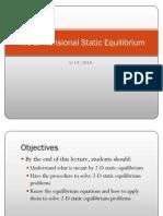 Two-Dimensional Static Equilibrium