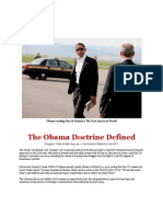 The Obama Doctrine Defined