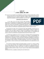Ley de Contratos de Arrendamiento con Opción a Compra de 2000