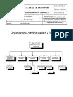 (Mf-Ad-05) Manual de Funciones Administracion y Finanzas
