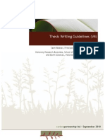 Thesis Writing Guidelines[1]