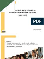Acuerdo para la Articulación de la EB