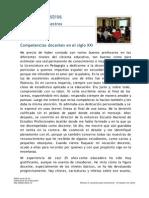 De LA GARZA. Competencias Docentes en El Siglo XXI