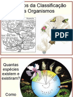 5 Principios Da Classificacao Dos Organismos
