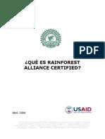 1 Que Es Rain Forest Alliance Certified 04-06