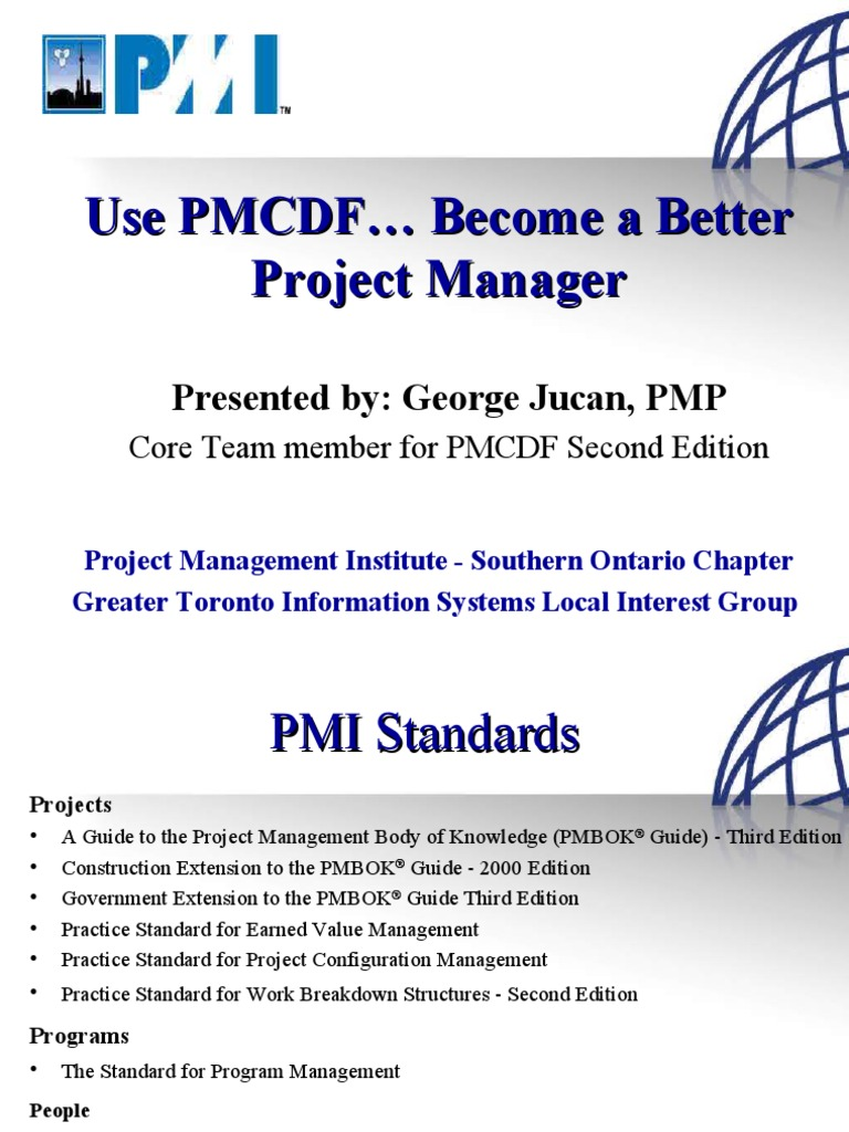 PMCDF GTISLIG Oct2007 | Competence (Human Resources) | Project Management