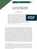 Realism Versus Strategic Culture