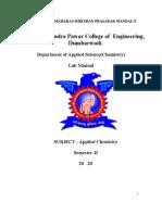 Chem Lab Manual Sem-II