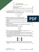 Electrostatics Important Questions