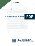 Classification vs Monitoring