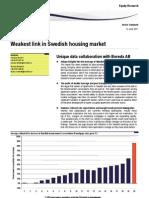 Swedish Housing Market SEB Enskilda 110613