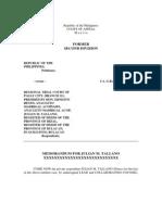 2006-11-14 CA Jacoba Memorandum for JMT