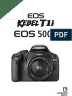 Manual EOS 500D RO