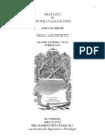 Gallaccini - Trattato Sopra Gli Errori Degli Architetti