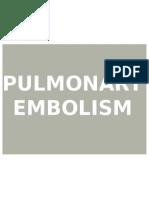 Rasel Pulmonary Embolism