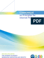 Oecd-communique for Principles on Internet Policy Making-2011!06!29