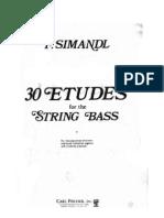 Franz Simandl - 30 Etudes for the String Bass