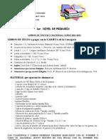 Los Libros y Los Materiales 2011-2012