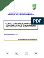 Brochure Corso Di Economia Civile e Non Profit 2011- Università Milano Bicocca