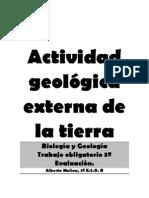 Actividad geológica externa de la tierra