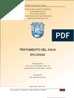 Tratamiento Del Agua en Casas.