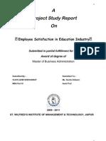 Employee Satisfaction in Education Industry