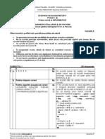 Barem de corectare BAC 2011 - Informatică Mate-Info (MI)