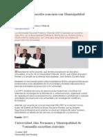 Universidad suscribe convenio con Municipalidad de Breña