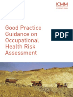 ICMM Good Practice Guidance on Occupational Health Risk Assessment