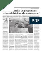 Como Desarrollar Un Programa de Responsabilidad Social en Su Empresa