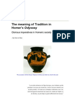 The Meaning of Tradition in Homer's Odyssey - By Marcel Bas