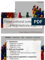 Cross-Cultural Comparison of Negotiations Style