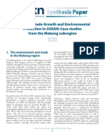 Jörn Dosch Balancing Trade Growth and Environmental Protection in ASEAN TKN Synthesis Paper June 2010