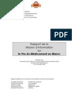 Rapport de Mission Parlementaire Sur Le Prix Du Medicament